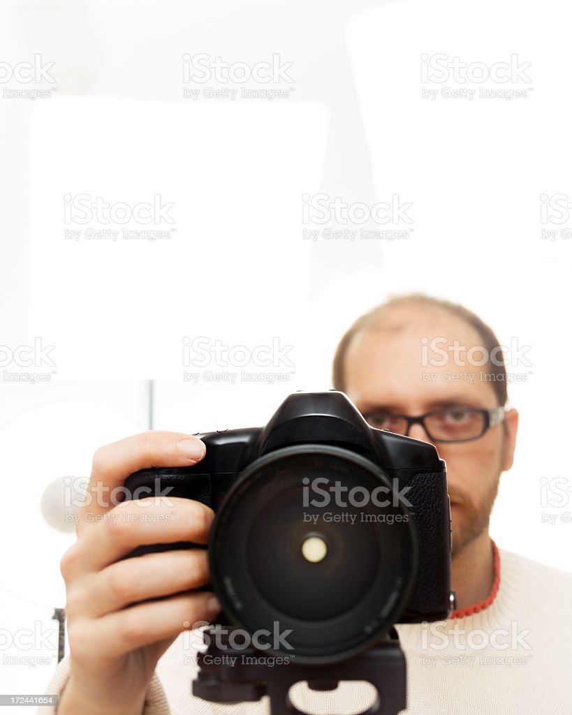 Photographer in photoshoot stock photo