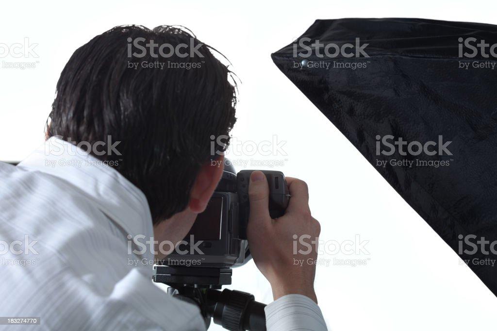 Photographer In Studio stock photo