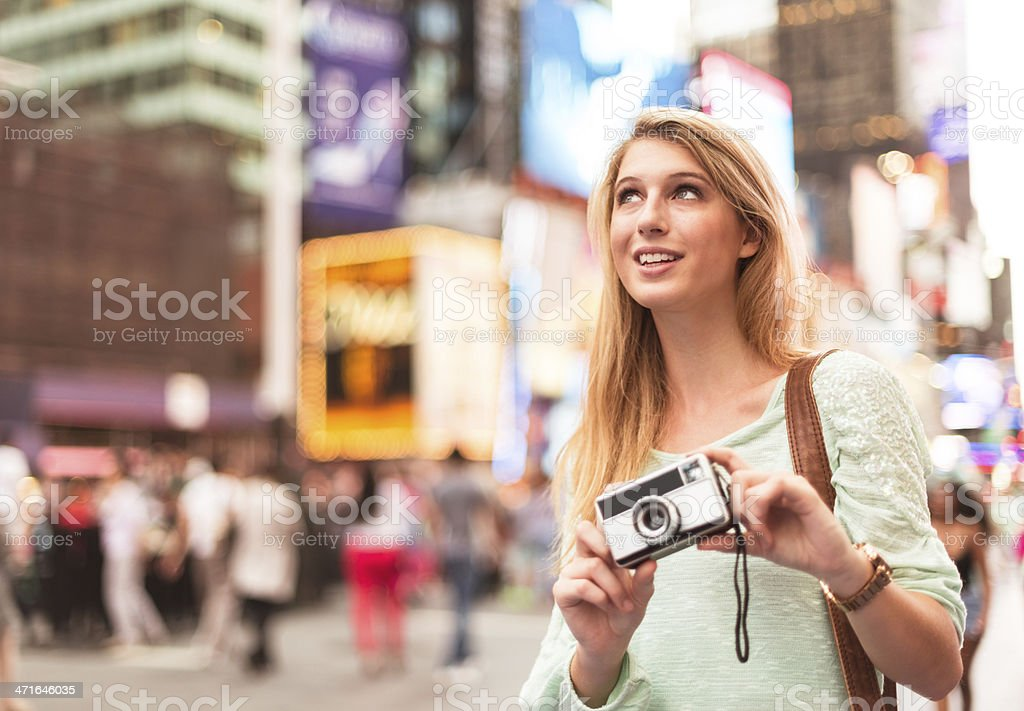 Photographer in times square - NYC stock photo