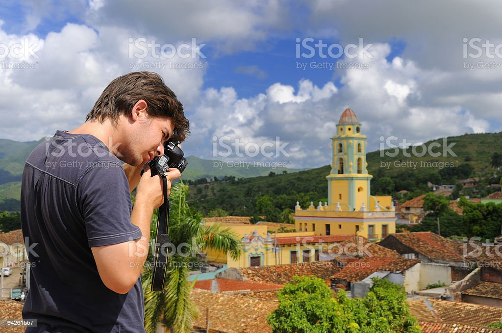 Photographer in Trinidad, cuba royalty-free stock photo