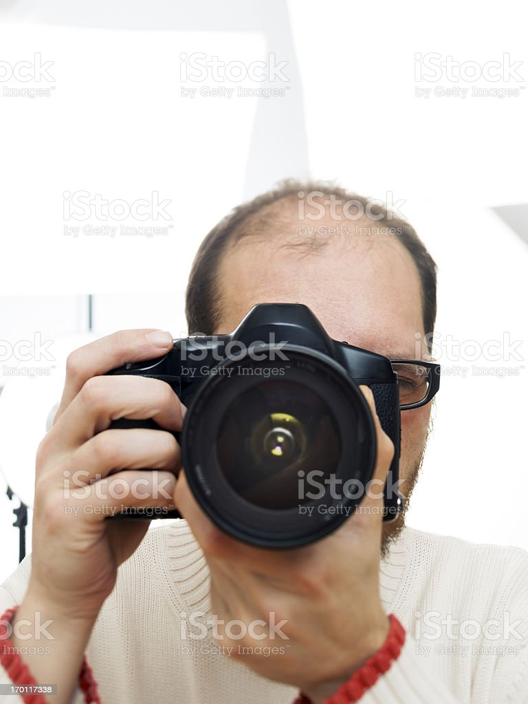 Photographer on a photoshoot stock photo