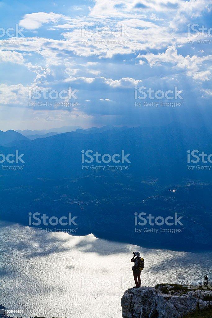 Photographer on Monte Baldo royalty-free stock photo