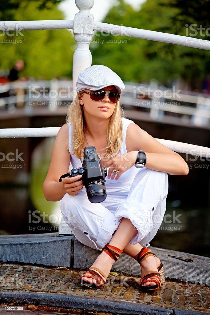 photographer outdoors royalty-free stock photo