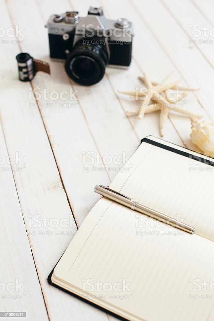 Photographer planner stock photo