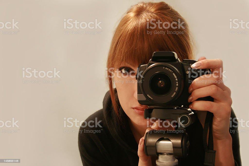 Photographer self shot royalty-free stock photo