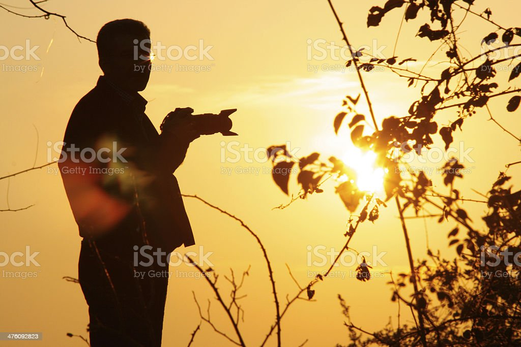 photographer silhouette stock photo