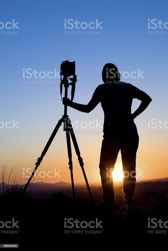Photographer silhouette royalty-free stock photo