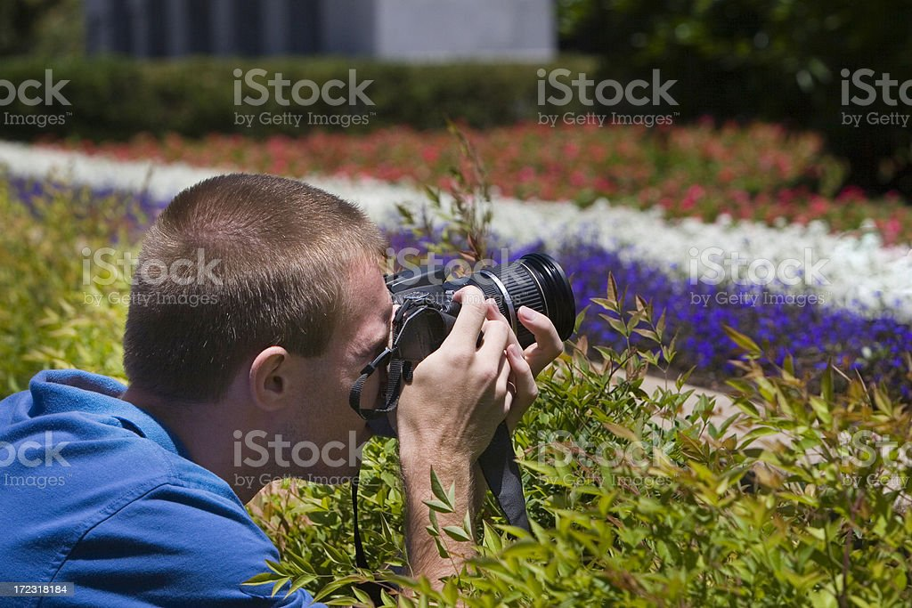 Photographer taking a picture stock photo