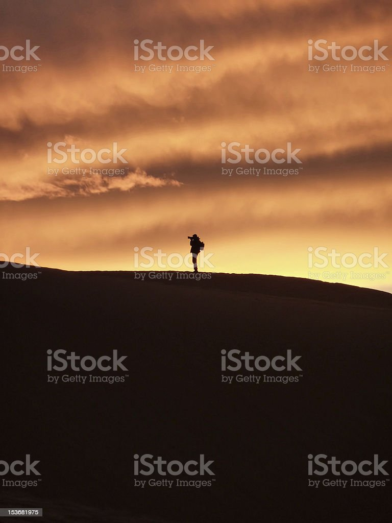 photographer taking picture silhuette royalty-free stock photo