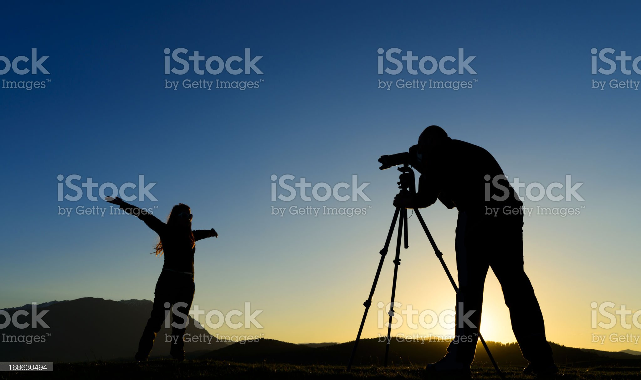 photographer taking pictures royalty-free stock photo