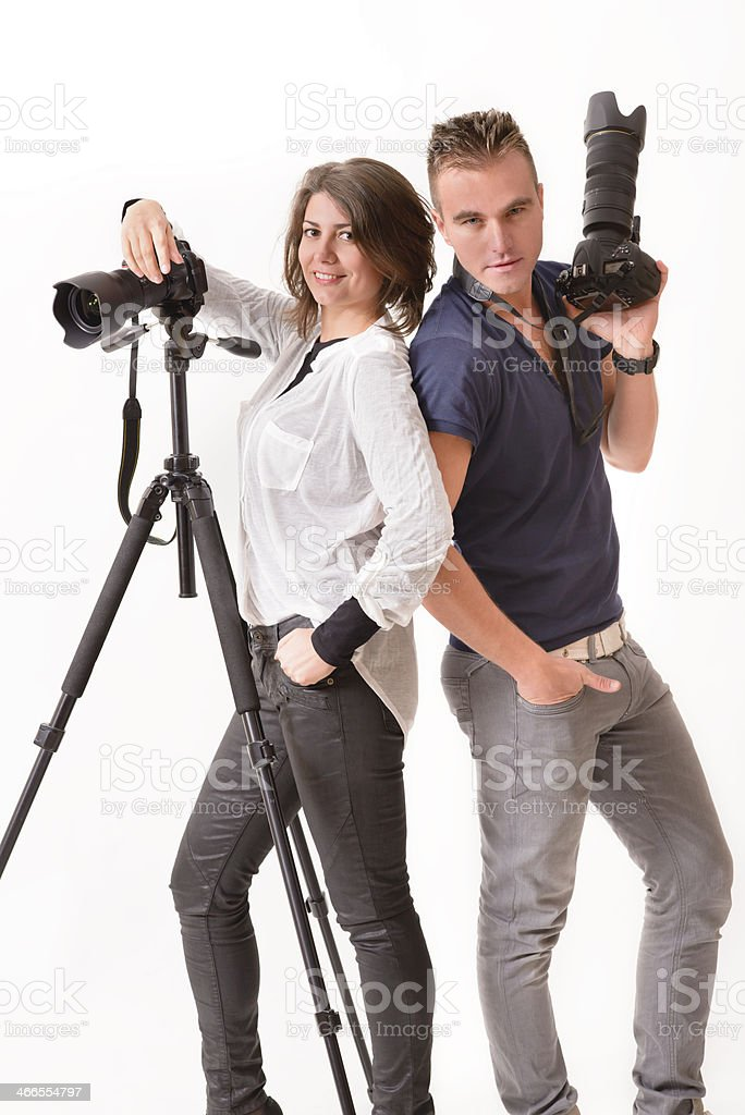 Photographer Team stock photo