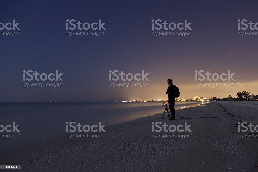 Photographer waiting the sunrise royalty-free stock photo