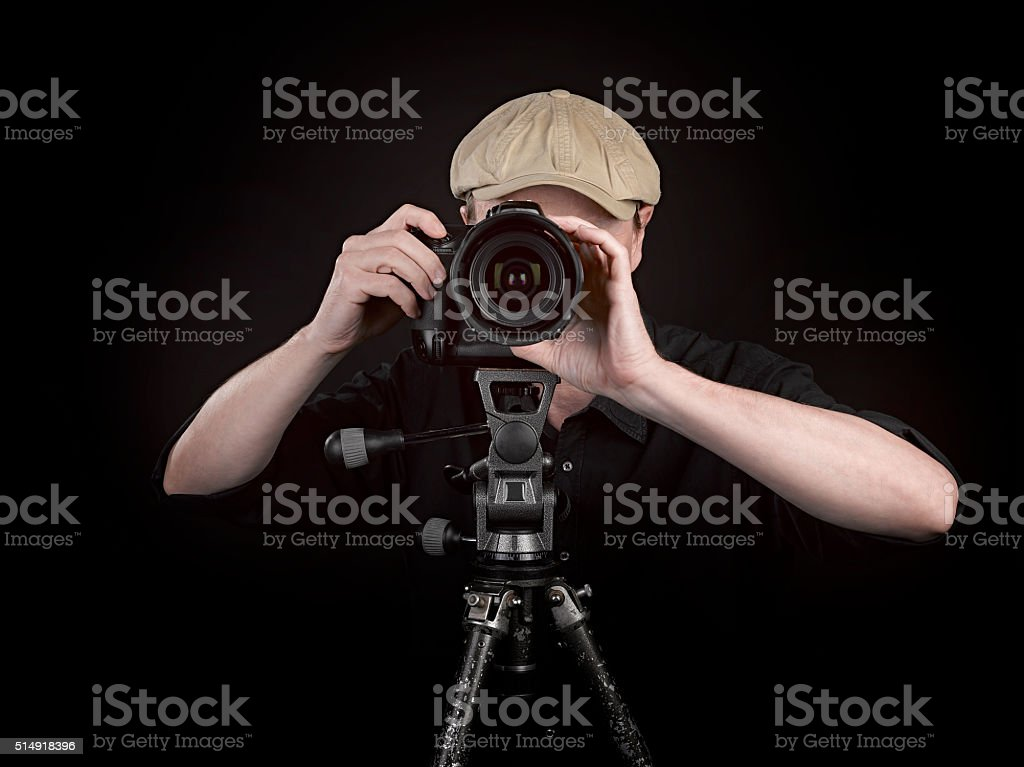 Photographer with a nice camera stock photo