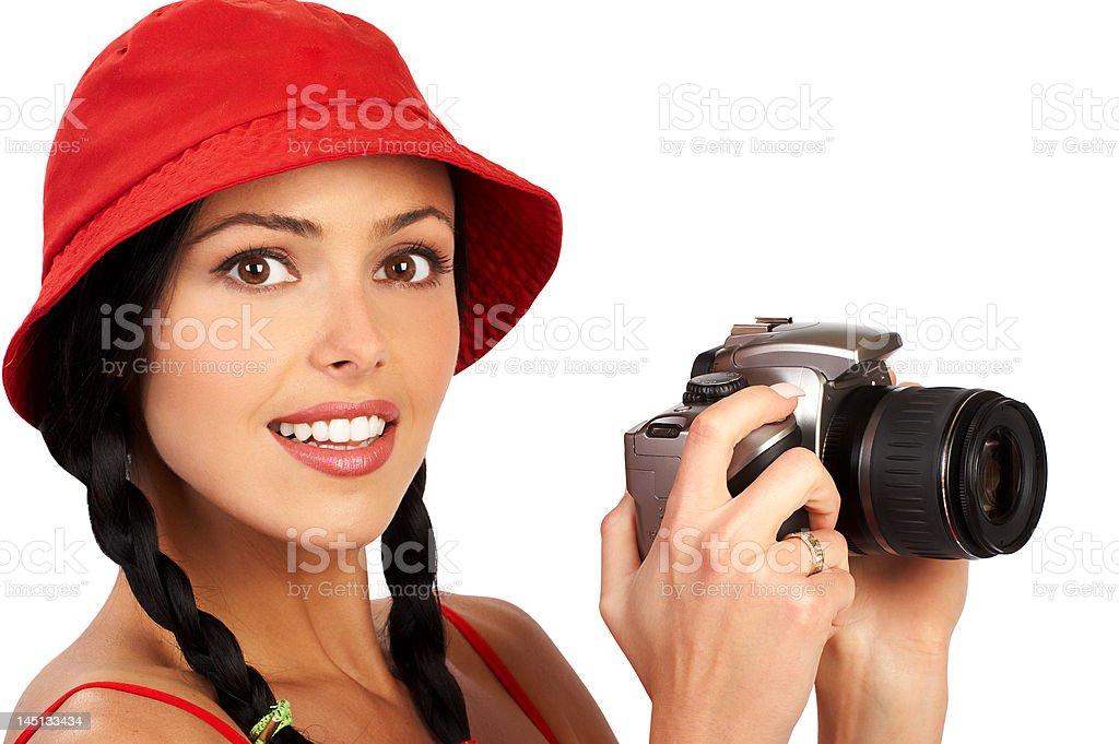 Photographer woman royalty-free stock photo