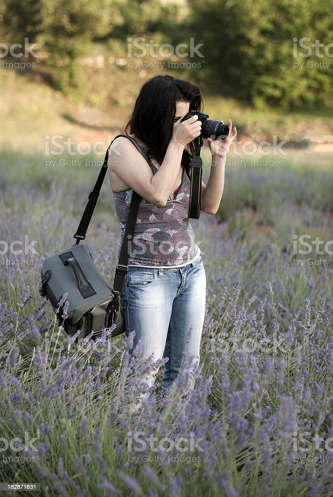 Photographer woman stock photo