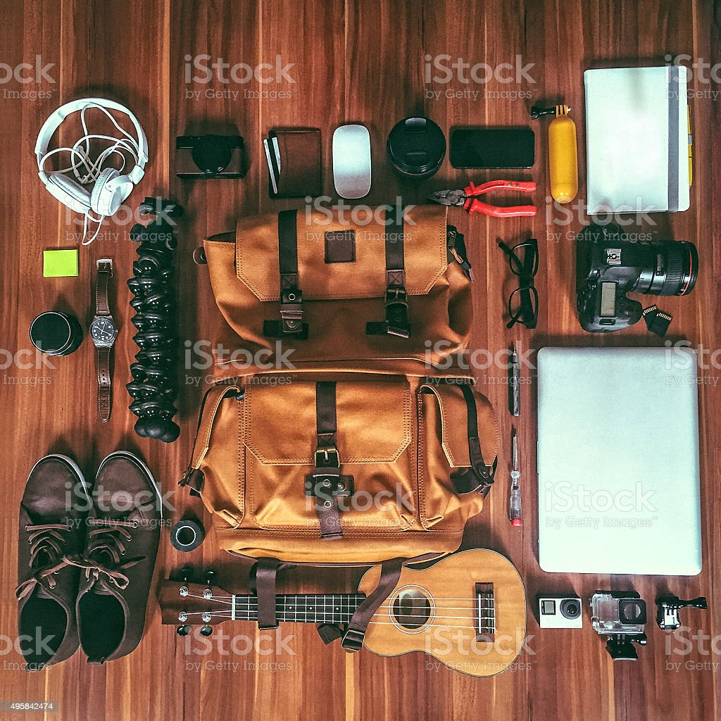 Photographer's gear stock photo