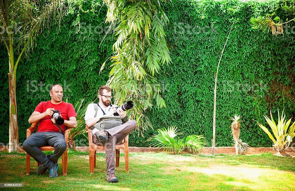 Photographers in India stock photo