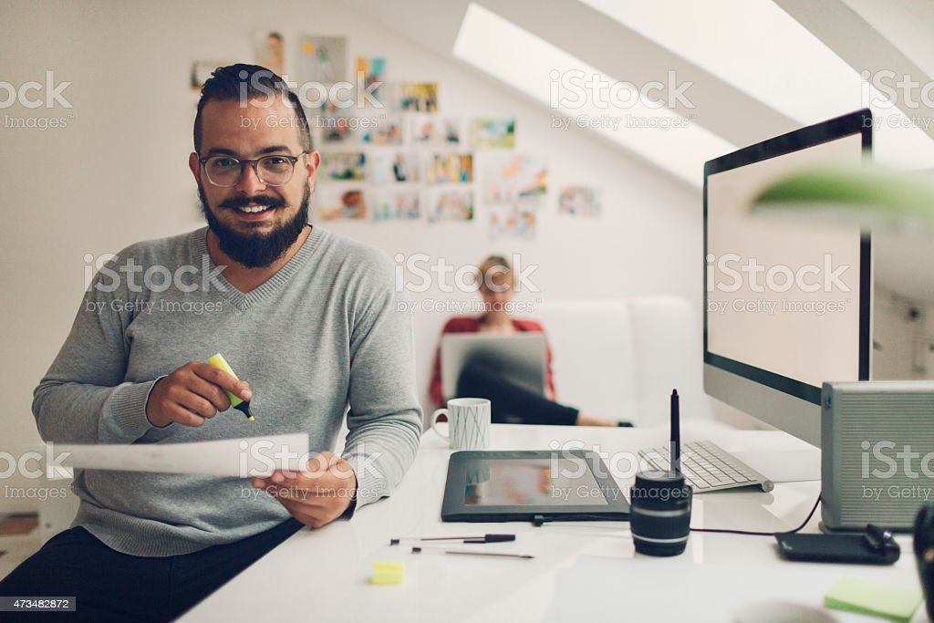 Photographers Looking Images printed on paper. stock photo