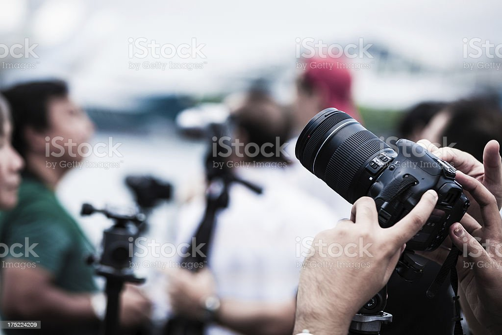 Photographers Ready to Shoot an Event stock photo