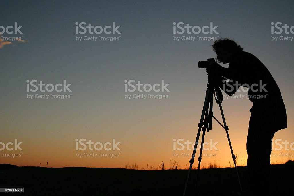 photographers silhouette royalty-free stock photo