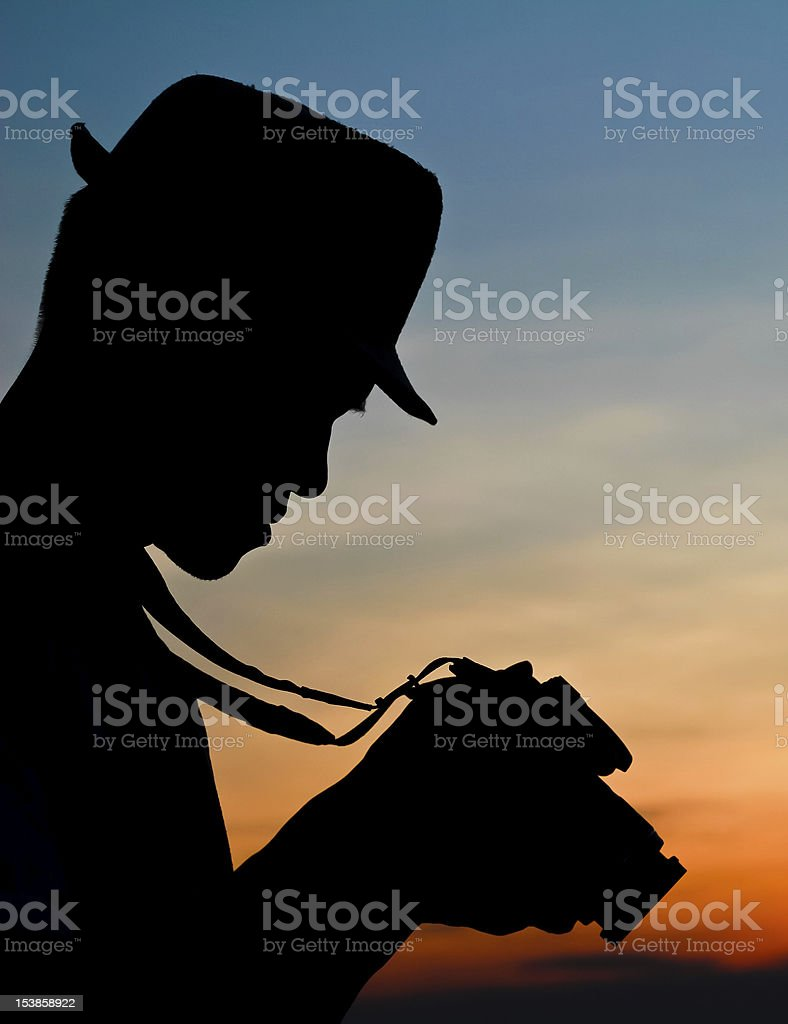 Photographer's silhouette. royalty-free stock photo