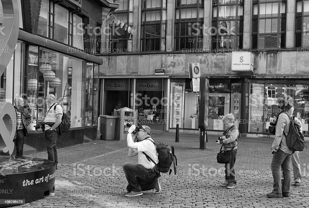 photographers waiting royalty-free stock photo
