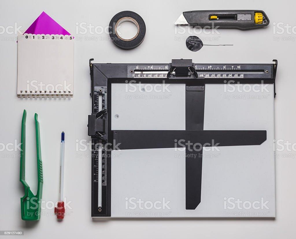 Photographic Darkroom Editing Equipment stock photo