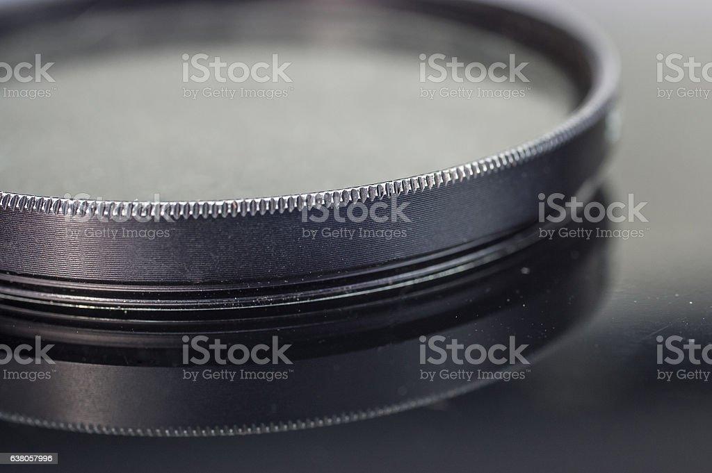 Photographic Glass UV lens filter stock photo