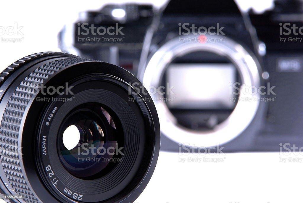 Photographic lens royalty-free stock photo