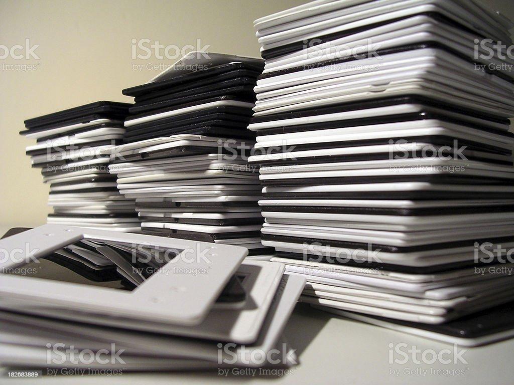 Photographic slides stock photo