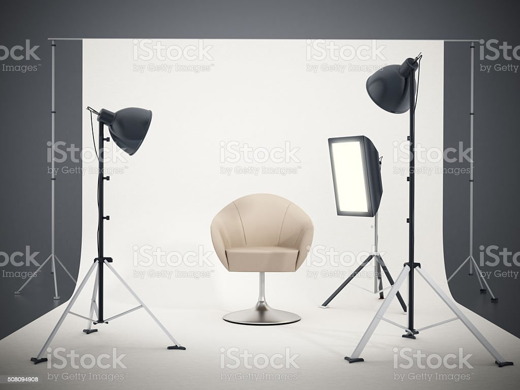 Photographic studio stock photo