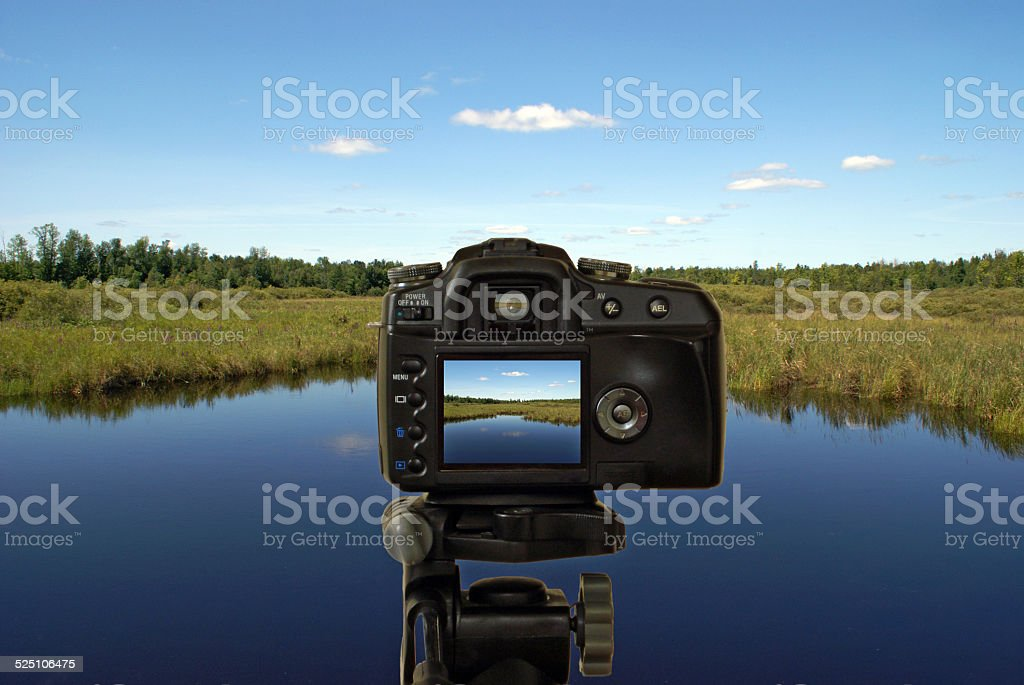 Photographing a Landscape stock photo
