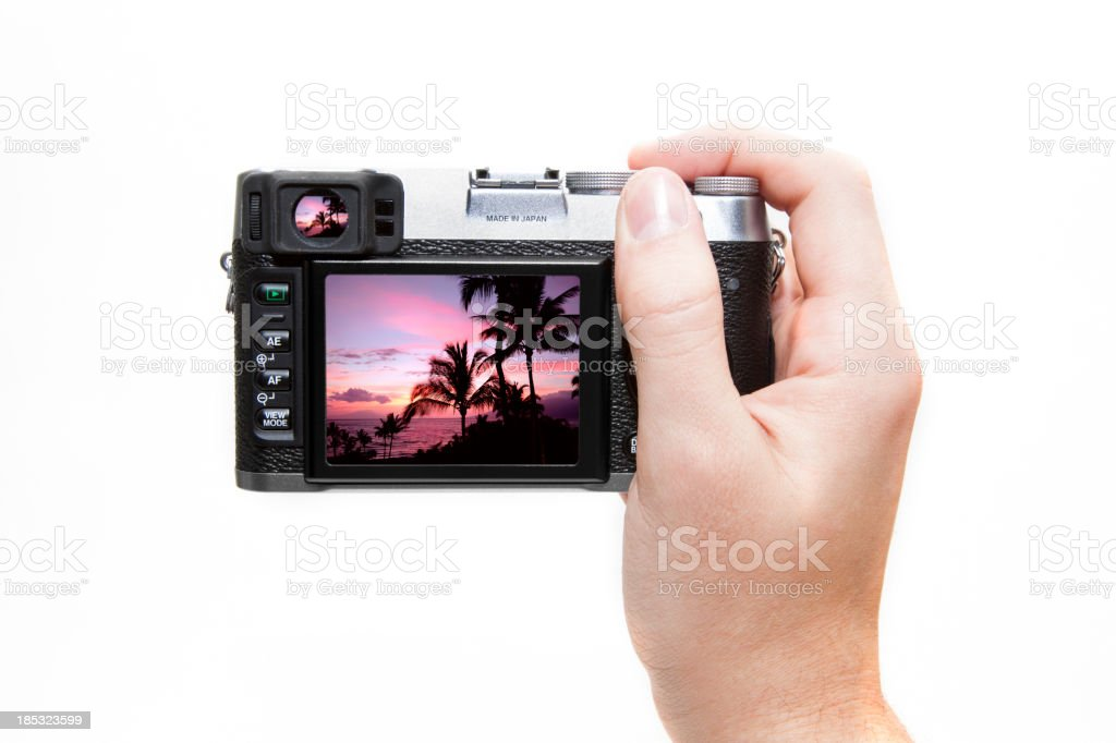 Photographing a Sunset royalty-free stock photo