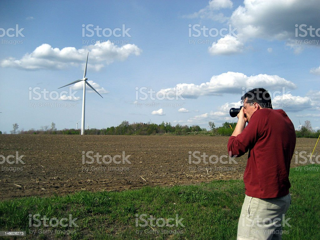 Photographing a windmill royalty-free stock photo