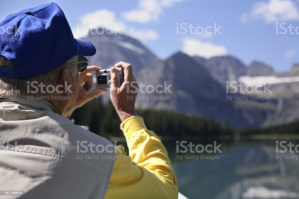 Photographing beautiful view royalty-free stock photo