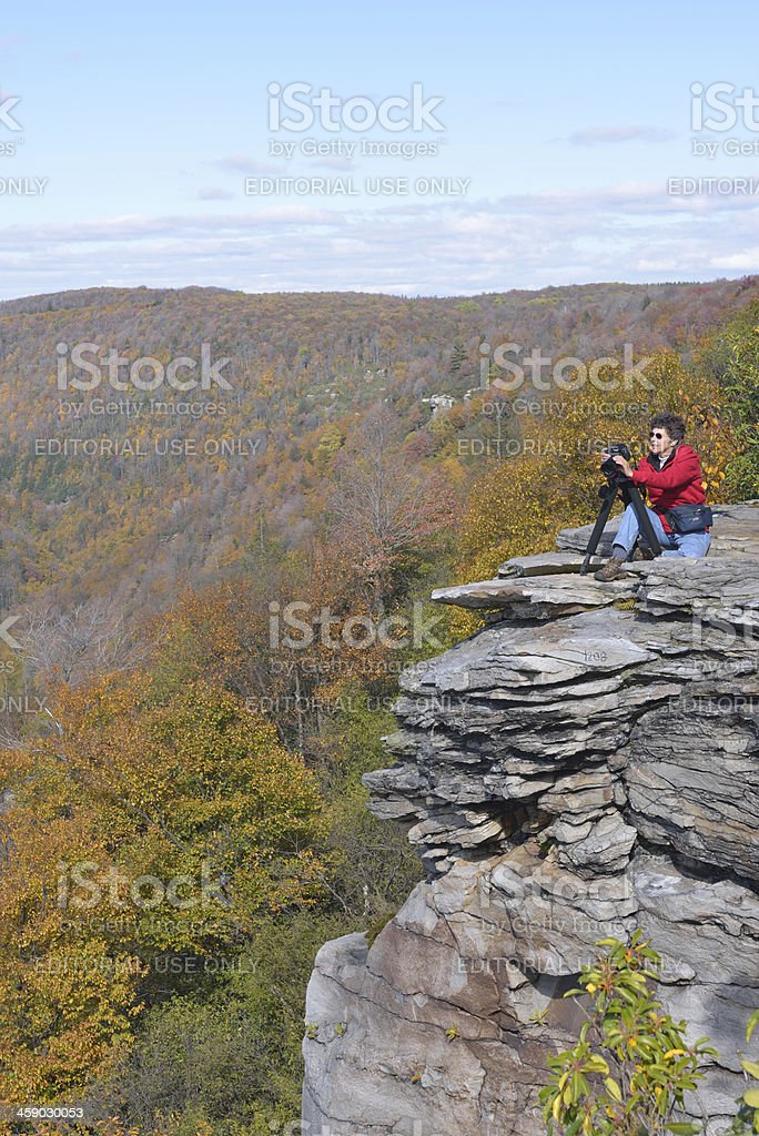 Photographing Canyon stock photo