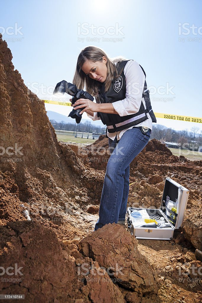 photographing evidence royalty-free stock photo