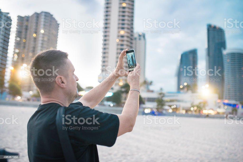 Photographing Gold Coast stock photo