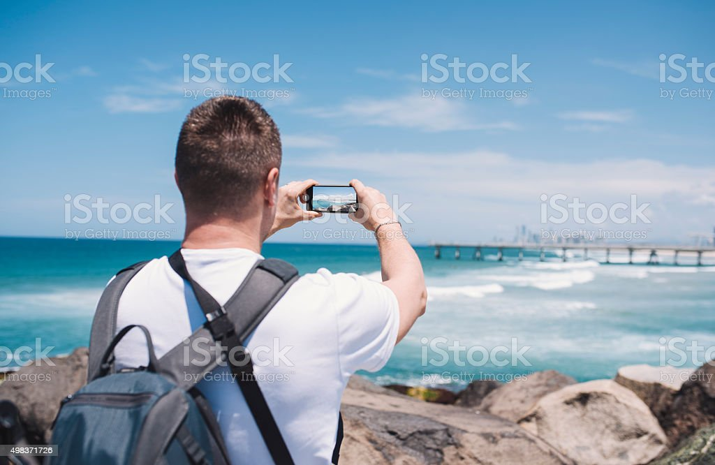 Photographing Gold Coast stock photo