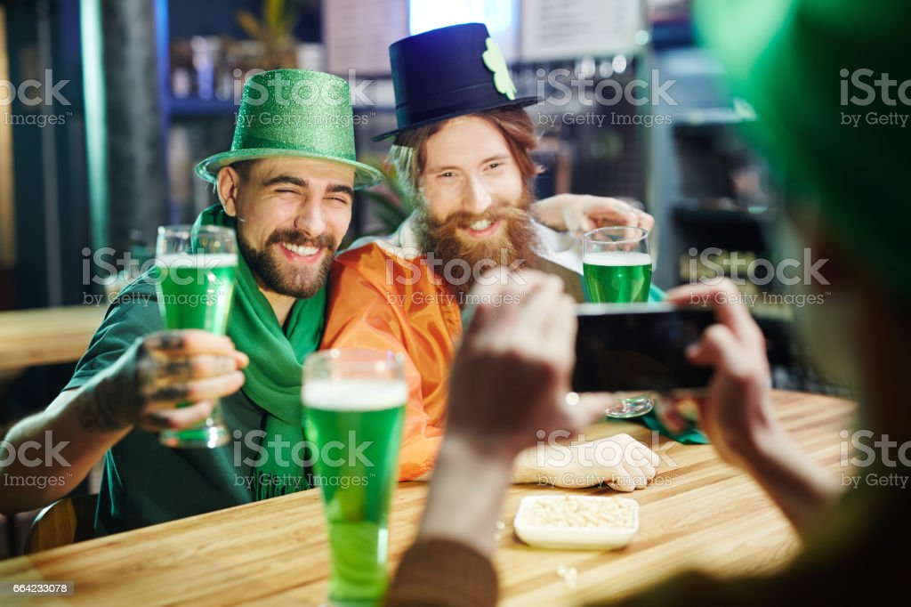 Photographing in pub stock photo