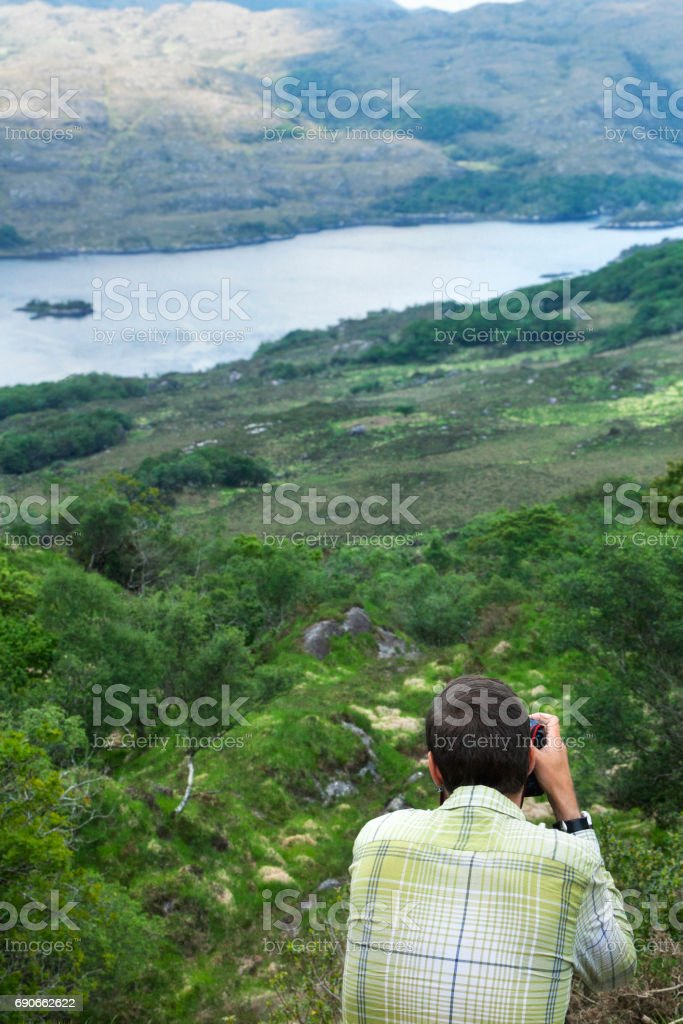 Photographing Ladies View on the Ring of Kerry, Ireland stock photo