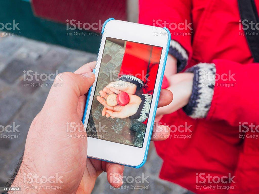 Photographing Macarons stock photo
