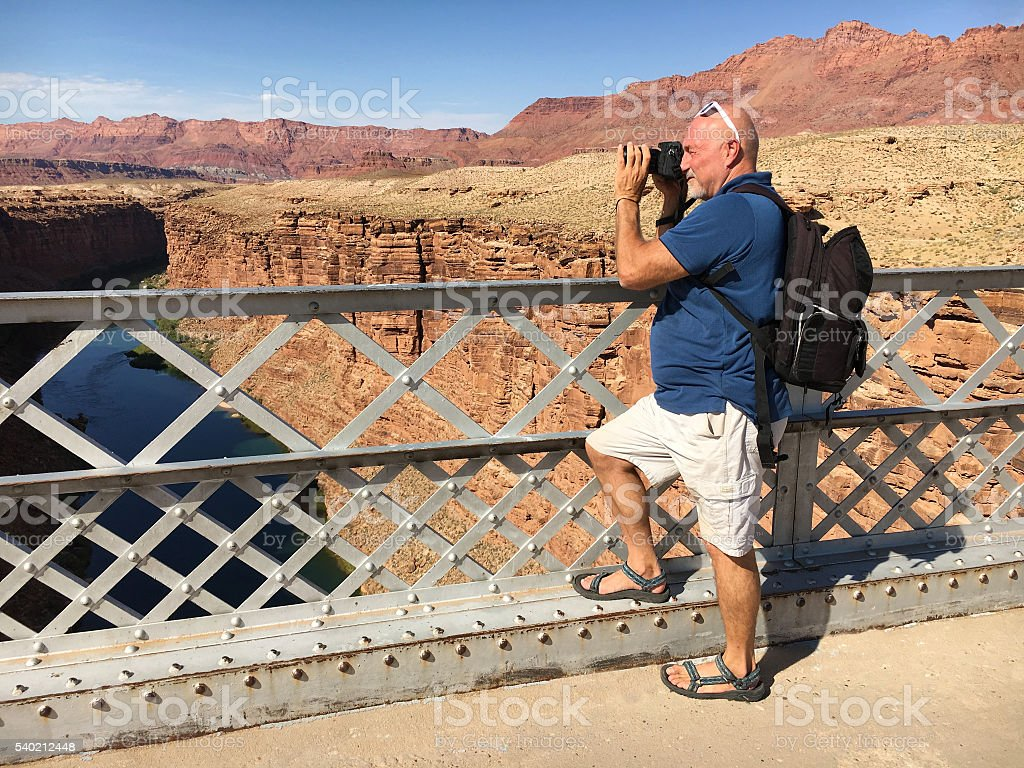 Photographing Marble Canyon stock photo