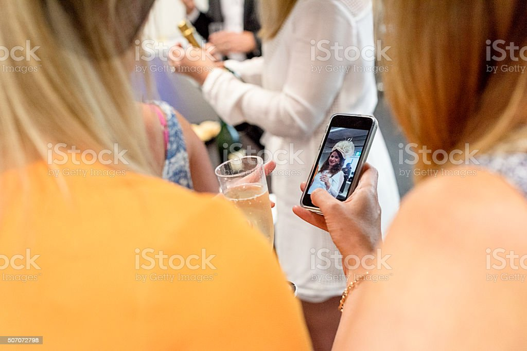 Photographing My Friends At The Party stock photo