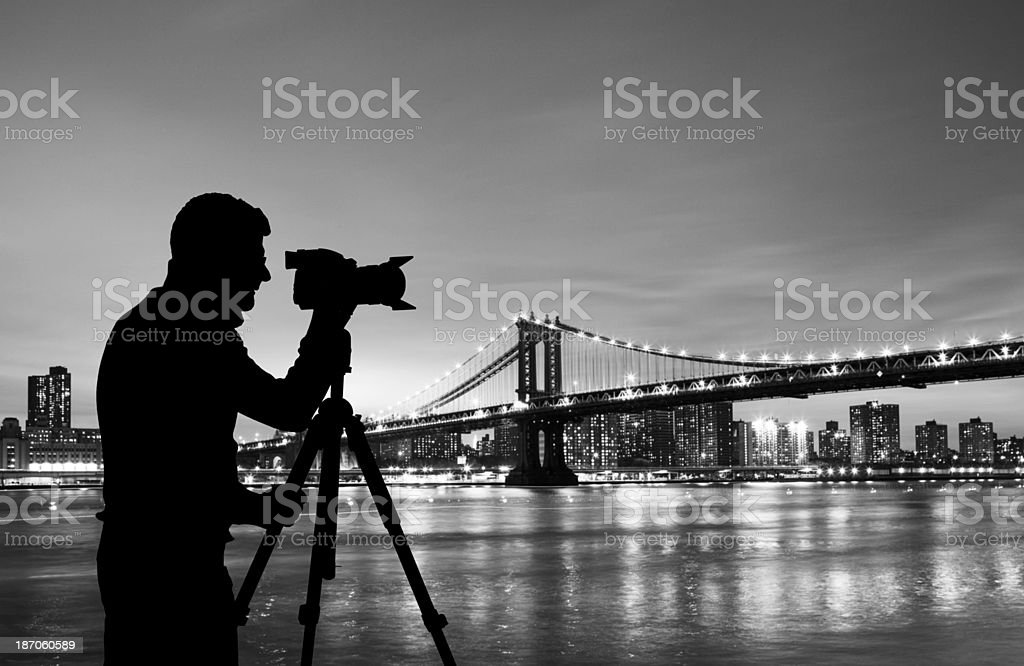 Photographing New York royalty-free stock photo
