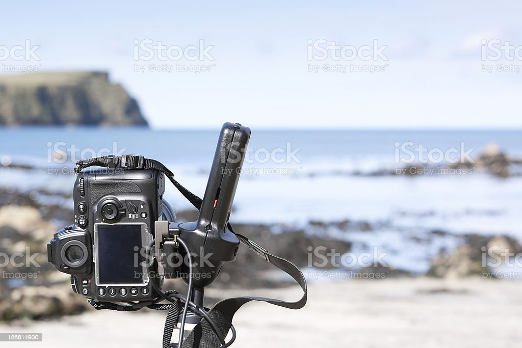 Photographing Seascape royalty-free stock photo