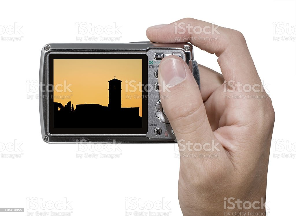 Photographing Sunset royalty-free stock photo