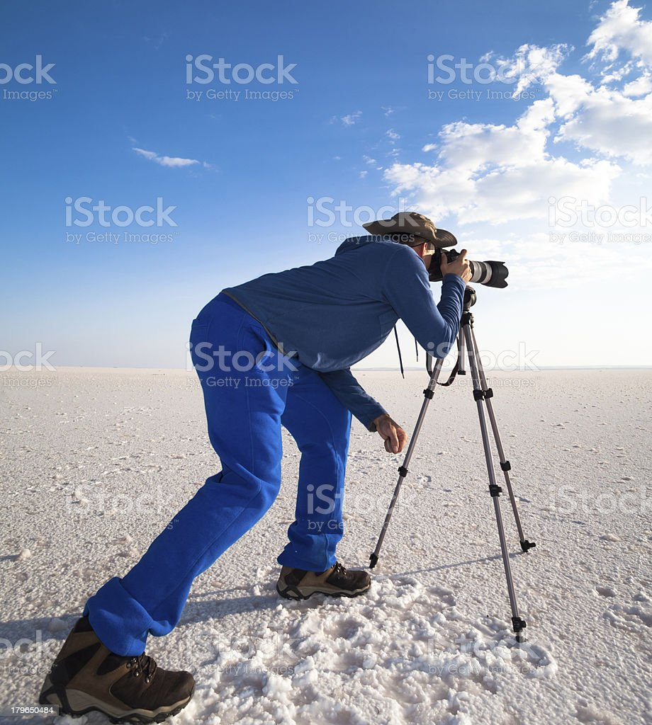 Photographing Sunset stock photo