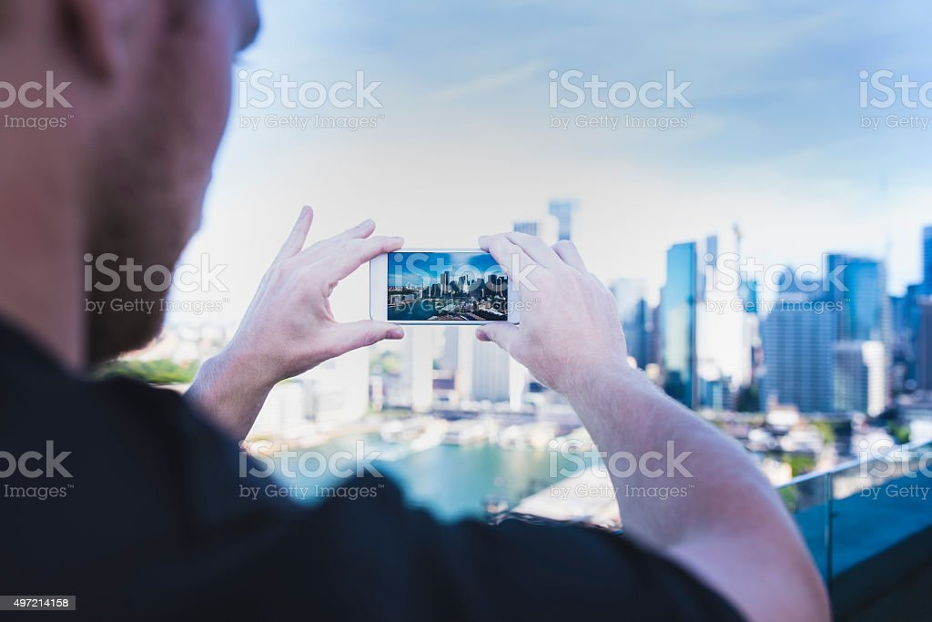 Photographing Syndey stock photo