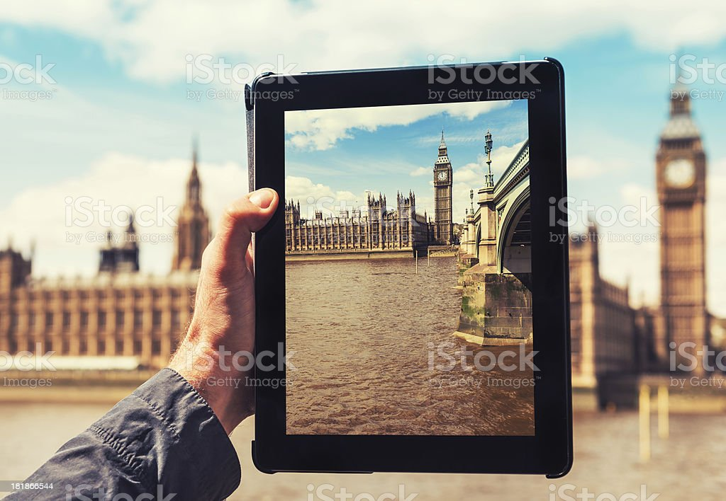 photographing the house of parliament in london royalty-free stock photo